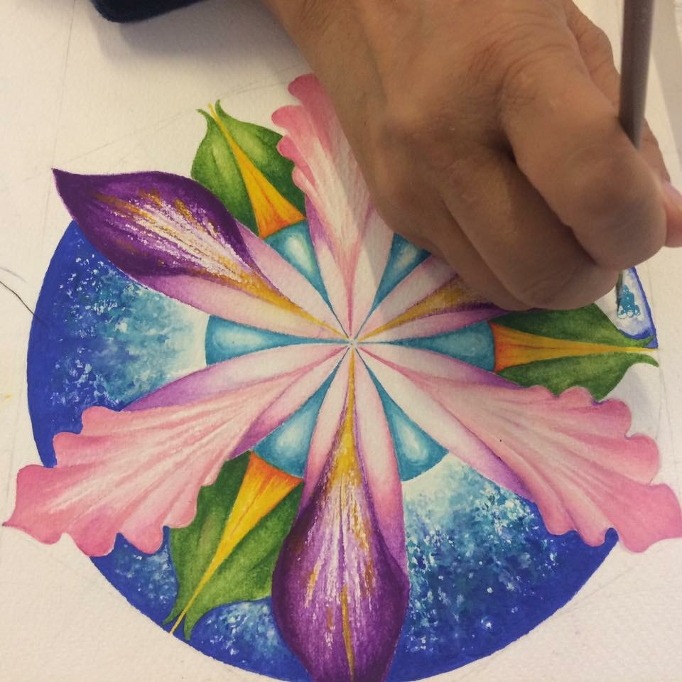 Mandala Painting in tour